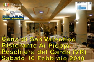 Cena di San Valentino - Ristorante Ai Pioppi - Peschiera del Garda (VR) - Sabato 16 Febbraio 2019